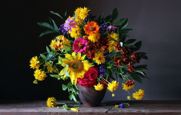 Artistic Photo of vase full of flowers
