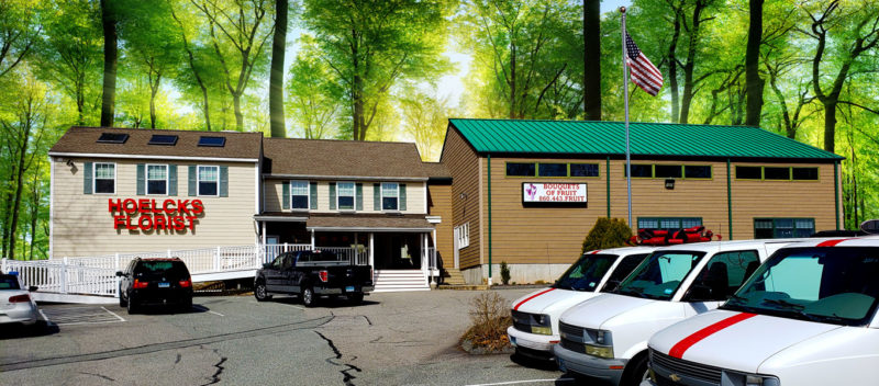 Picture of the outside of the building at Hoelcks Florist