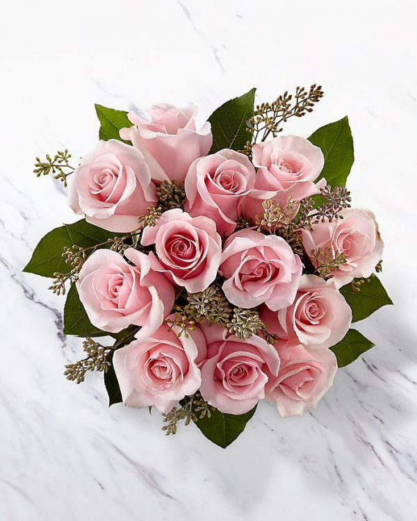 Pink Roses from the Top